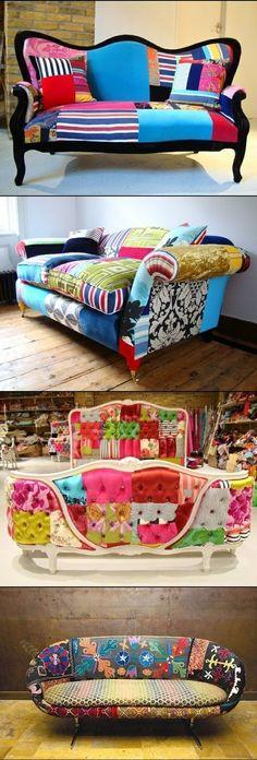 Colored DIY Sofa Decoration and Renovation.