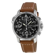 Seiko SSC081 Mens Solar Watch for $174 http://sylsdeals.com/seiko-ssc081-mens-solar-watch-174/