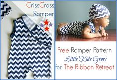 Criss Cross Romper - The Ribbon Retreat Blog - free pattern  tutorial - size 3-6M