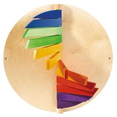 Learning Walls by HABA, Wood Color Wall Activity, 092762