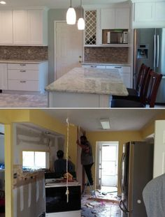Precision Construction has cabinet installers who also offer bathroom and kitchen remodeling, painting and drywall repair services. They also do countertop and stair installation projects. Click for more photos and reviews.