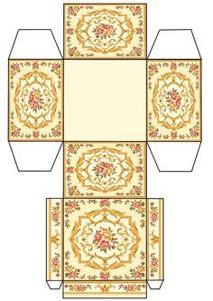 Printable digital moroccan boho style gift box layout do it miniature box printable from jb solutioingenieria Gallery