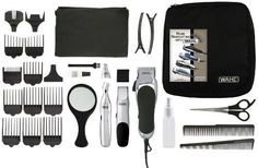 Wahl 79524-3001 Home Barber 30 Piece Kit***30-piece complete haircut kit makes haircutting at home even easier,Contains a multi-cut clipper, cordless touch up trimmer and cordless personal trimmer with 2 heads,High-carbon steel blades stay sharp longer,5 year limited warranty on the clipper and 2 year limited warranty on the trimmers,.