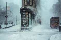 NYC Winter Storm Photo Remarkably Resembles an Impressionist Painting - My Modern Met