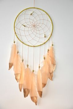 Boho Dream Catcher Gold Dream Catcher  by DreamCatchersByTasha