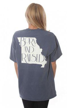 Riffraff | born & raised tee - Missouri [blue] FAVORITE T SHIRTS