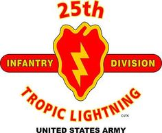"25th Infantry Division""Tropic Lightning"" United States Army Shirt.  World War II  Pacific Campaigns: Central Pacific, Northern Solomons, Guadalcanal, Luzon.  (August 1945 Location: Bambam Philippine Islands)  (Killed In Action:1,235)  (Wounded In Action:4,190)  (Died Of Wounds:262)"