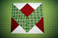 Ribbon quilt block . . . I really like this simple block!