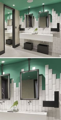A Seductive Home With Lush Colors And Double Baths | LUSH, Bath And Modern