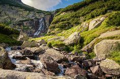Mountain waterfall Skok in High Tatras, Slovakia. // Wodospad górski Skok w Tatrach Wysokich na Słowacji. #mountains #fall #tatramountains #tatras #slovakia