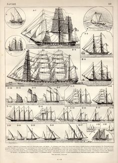 Old Ships Antique Print 1897 Vintage Lithograph by Craftissimo, can find Ships and more on our website.Old Ships Antique Print 1897 Vinta. Poder Naval, Old Sailing Ships, Wooden Ship, Nautical Art, Wooden Boats, Model Ships, Tall Ships, Antique Prints, Water Crafts