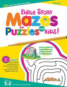 Your kids, ages 5 and up, will have fun learning Bible stories from the Old and New Testaments while reading mini-stories and completing mazes. To extend the learning, you're encouraged to look up the