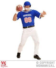 'American Football Player' Fancy Dress (Widmann 3922/3923)