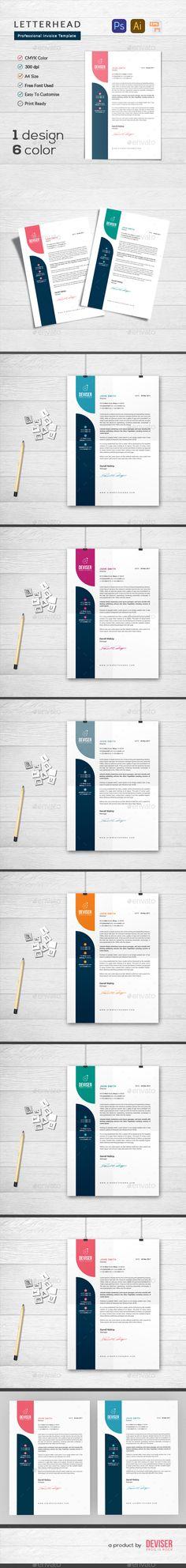 Letterhead Template PSD, Vector EPS, AI Illustrator