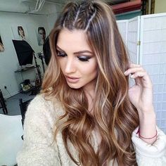 58 Fascinating Long Hairstyles for Women to go Work - My list of womens hair styles French Braid Hairstyles, Box Braids Hairstyles, Hairstyle Ideas, Updo Hairstyle, Medium Hair Styles, Curly Hair Styles, Natural Hair Styles, Styles For Long Hair, Simple Hairstyles For Medium Hair