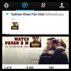 Not only Salman Khan but his entire fan club is following me on twitter!! Hahahaah... #hercreativepalace #kannu #follow #me #ontwitter #salmankhan #fanclub #howcool #kthanksbye