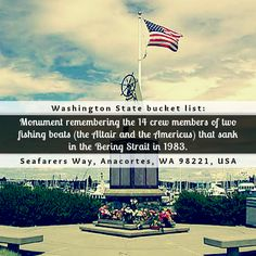 Need something to do for free in Anacortes, Washington? Check out this Memorial of the Bering Strait Tragedy (click through for more info)