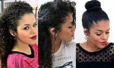15 Penteados Fáceis Para Cabelos Cacheados: Imagens e Vídeos!