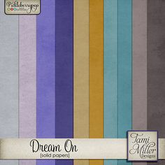 Dream On Solid Papers by Tami Miller Designs