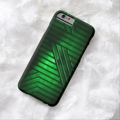 Green Alien Metal iPhone 6, Barely There Case by BOLO Designs.