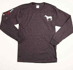 Cute and comfortable long-sleeve AQHA t-shirt. This casual top is perfect for equestrians who want to show their #AQHAPride!