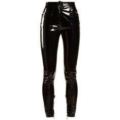Coated mid-rise skinny-leg trousers Balmain MATCHESFASHION.COM (€3.165)