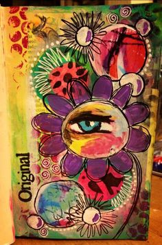 Inspiration. Use my eye. Tear. Gelotos. Layered background, stencils, add more flowers, leaves, circles, brightness. Love the cheek. Add ZIAs. Use gesso, modeling paste for stencils, acrylics, gelotos for my love of color and great shading and watercolor feel. Wording : She Wept. Oh....I want to journal on my background, the meaning of this art. Then cover lightly w gesso.