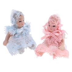 1//12 Scale Dollhouse Miniature People Figures Porcelain Baby Toddler Doll #1