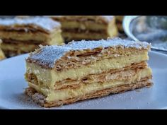 How to make the Best Mille Feuille - Jim Michailidis Italian Desserts, Sweet Desserts, Dessert Recipes, French Deserts, Crescent Recipes, Tasty, Yummy Food, Take The Cake, Happy Foods