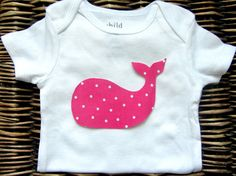 Baby Girl Clothes -  Polka Dot Whale Onesie - Whale Bodysuit - Pink Whale Onesie - Nautical Girls Pink Whale - Infant Newborn Girl Clothing on Etsy, $11.99