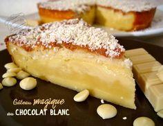 recette de gateau magique au chocolat blanc