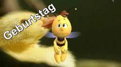 ♥ Happy Birthday Geburtstag Alles Gute zum Geburtstag Biene Maja & Willi  ♥TIPP http://www.video-deutschland.de/video.htm  Schlumpf als Postcard versenden zum Geburtstag Liebe Wochenende oder nur so ZOOBE APP