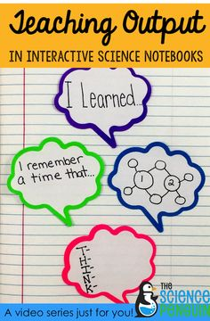 I'm working on some YouTube videos about science notebooks and would love for you to check them out! TeachingStudent to do Quality Work Teaching Output: Sentence Stems Teaching Output: Personal Connection, Quick Write, & Questions  Related PostsStarting Out with Sentence StemsThinking about starting Interactive Science Notebooks?New Year, New Notebook Blog Series: Back to School …