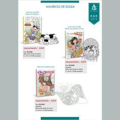 Livros de colorir Turma da Mônica pela Sextante em agosto/15
