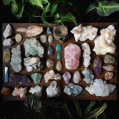 Before leaving my mothers house today I decided to photograph all the beautiful crystals she's collected throughout the years....