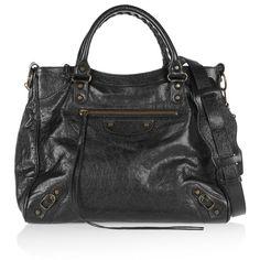 Balenciaga Velo textured-leather shoulder bag (12,565 EGP) ❤ liked on Polyvore