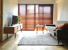 検 検 索 (画像 . - For the house - Muji Style, Modern Interior, Interior Design, Home And Living, Living Room, Wood Blinds, Japanese House, House Rooms, New Homes