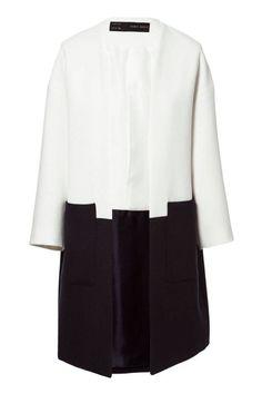 Zara Combined Coat, $100; zara.com