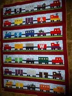 My train quilt