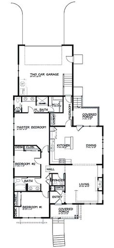 Narrow lot floor plans floor inc plannarrow lot house for Rear entry garage house plans