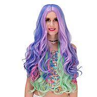 Blue purple gradient long wig.WIG LOLITA, Halloween Wig, color wig, fashion wig, natural wig, COSPLAY wig. – GBP £ 17.04
