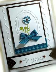 another idea for the Stampin' Up oval embossing folder.