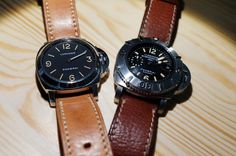 Cool leather watches. I would like to give one of these as a gift.