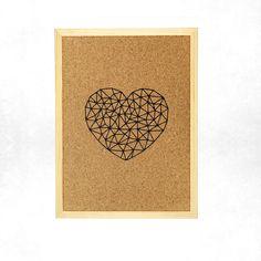 Pinnwand Kork, Herz Geometrisch, Memo Boards, Cork Boards, Etsy, Design, Home Decor, Geometric Heart, Valentines Day, Handmade, Gifts