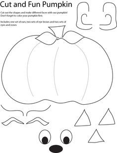 Cut and Create Pumpkin Crafts. HAPPY AUTUMN! → For more, please visit me at: www.facebook.com/jolly.ollie.77