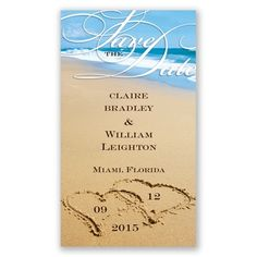 Beach Magent - Save the Date | Invitations By David's Bridal