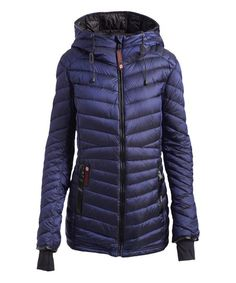Canada Weather Gear Indigo Hooded Puffer Coat - Plus Too Cold Weather Fashion, Duck Down, Coats For Women, Hoods, Zip Ups, Indigo, Winter Jackets, My Style, Clothes