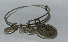 "Authentic Alex and Ani ""G"" 2014 Rafaelian Silver Charm Bangle energy   Jewelry & Watches, Fashion Jewelry, Bracelets   eBay!"