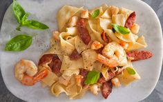 Prawn & Chorizo Pappardelle Pasta - San Remo