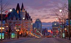 Wellington Street at Sunrise, Ottawa, Ontario